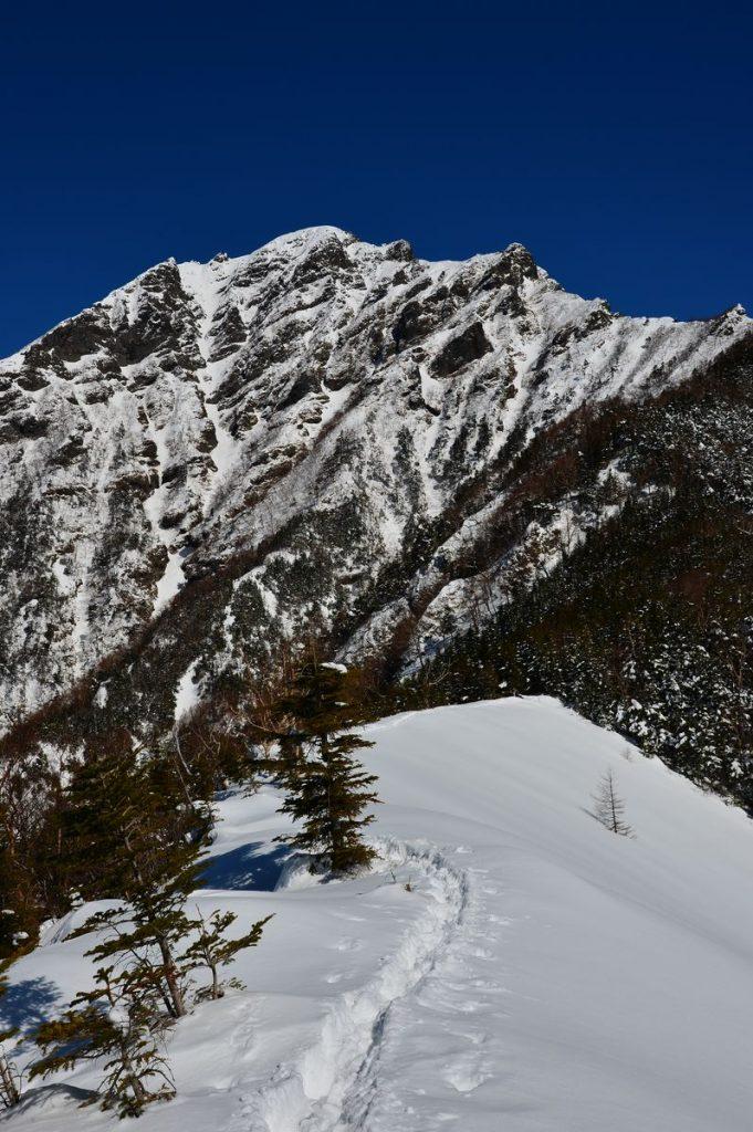 冬の阿弥陀岳(写真)